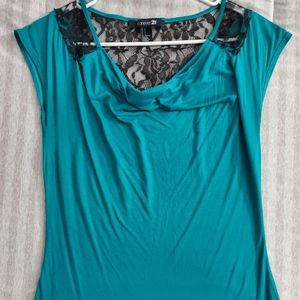 Forever 21 tee (Teal)